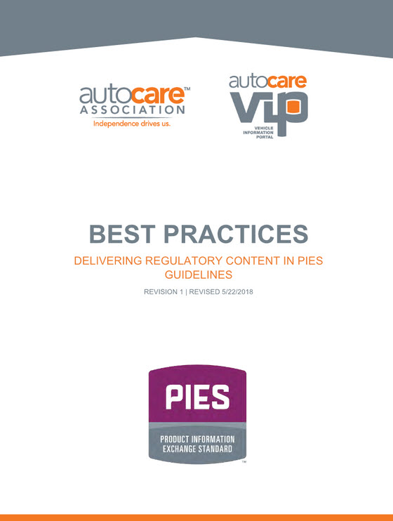 Best Practices: PIES – Delivering Regulatory Content