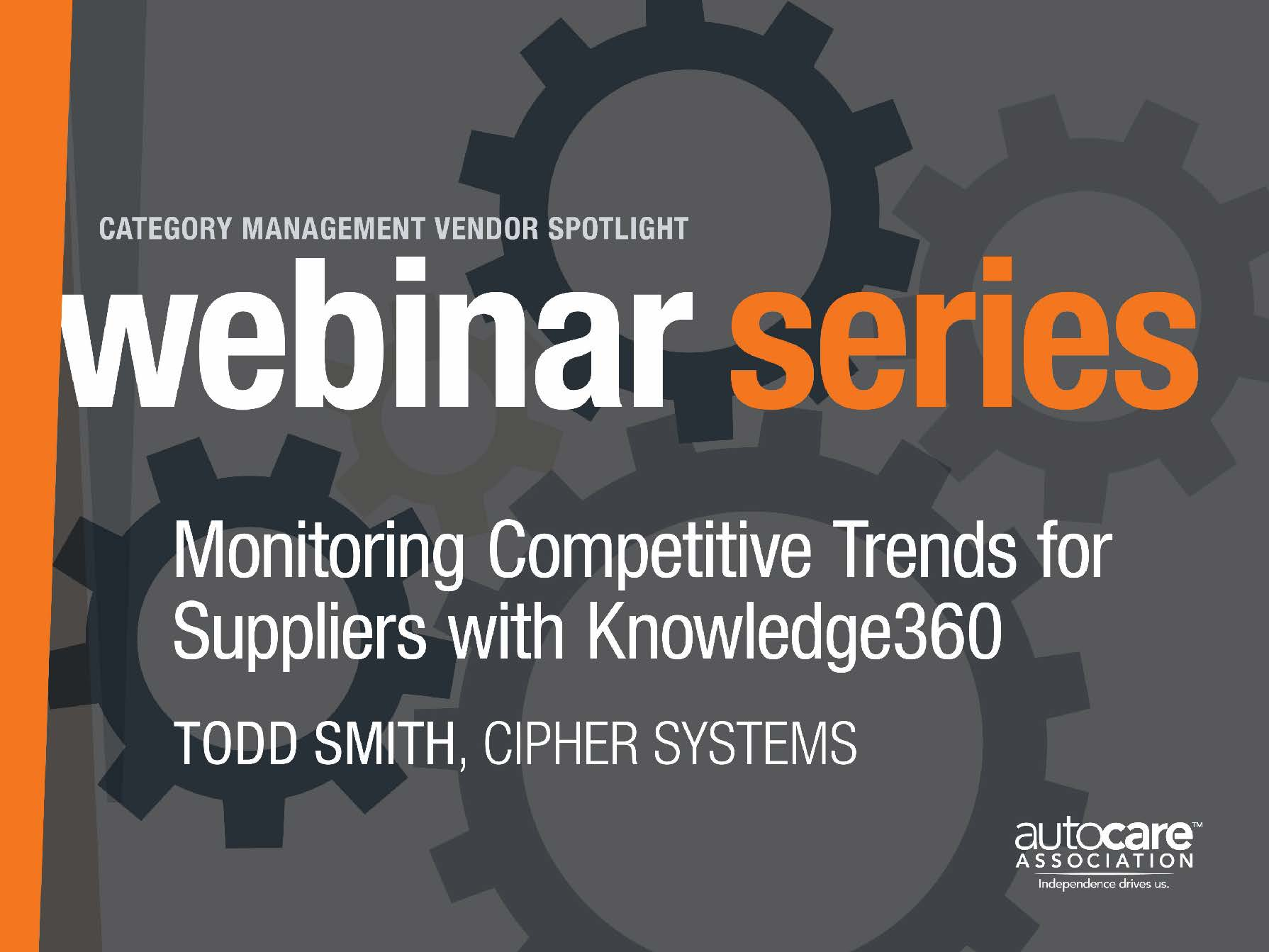 Monitoring Competitive Trends for Suppliers with Knowledge360 by Cipher Systems