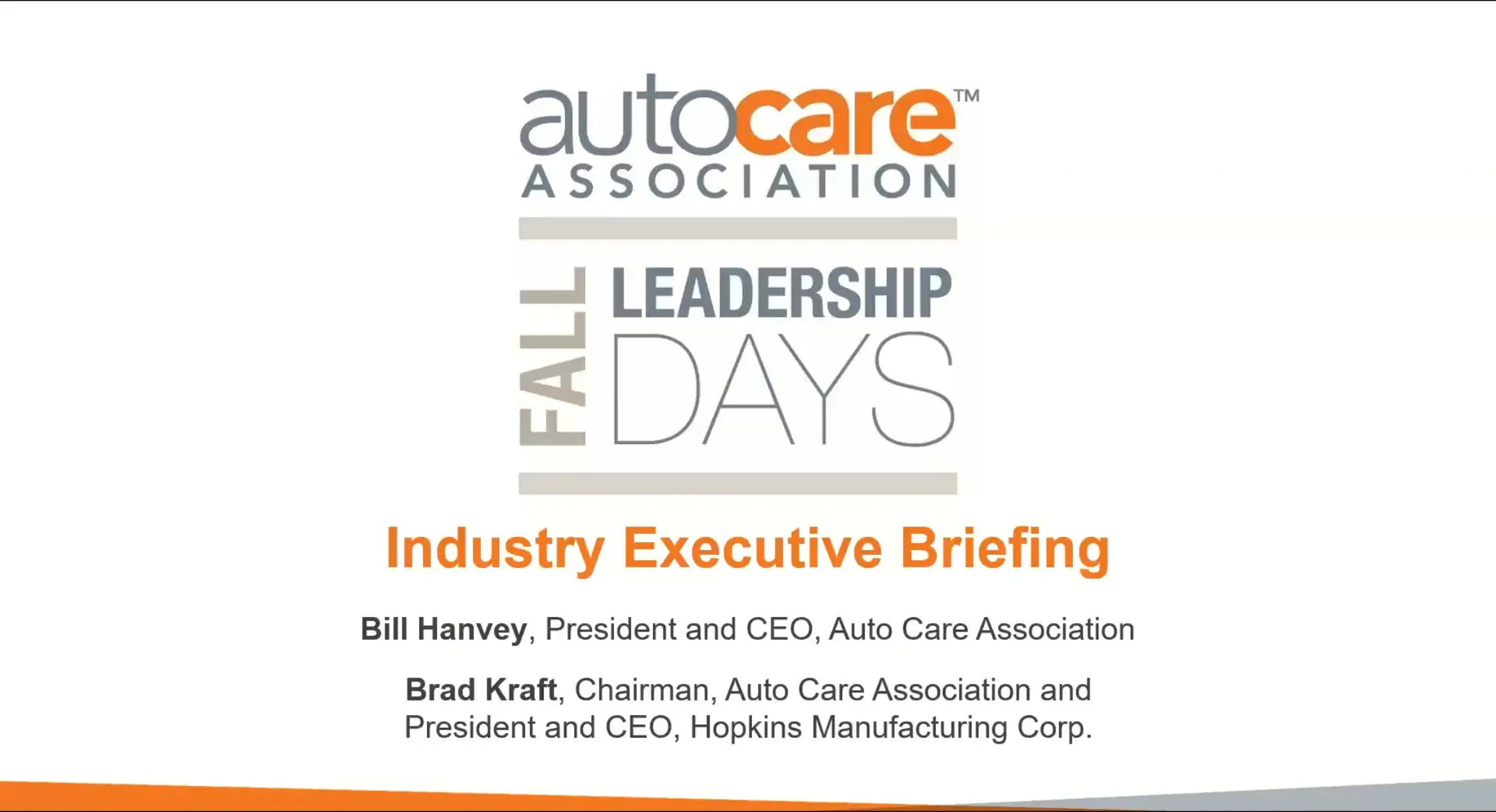 2020 Fall Leadership Days Executive Industry Briefing
