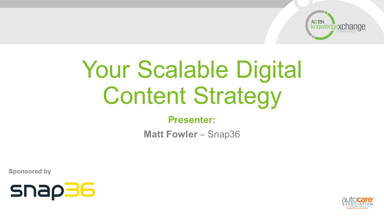 Your Scalable Digital Content Strategy